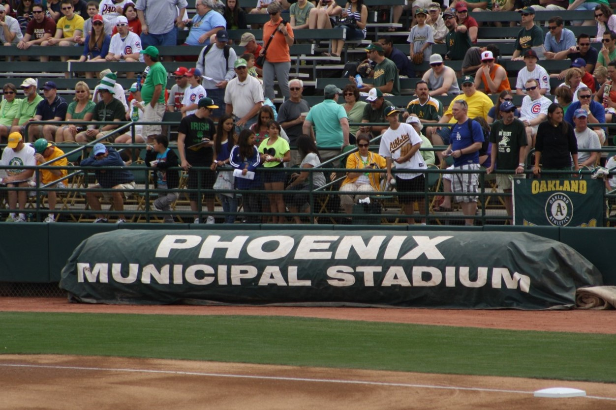 2012 03 17 41 Phoenix Muni Stadium A's Spring Training.jpg