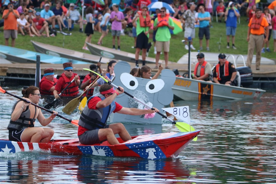 West Chester, OH – July 2017 – Crazy Cardboard BoatRaces