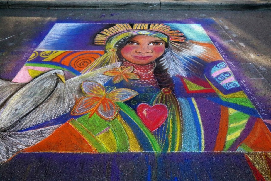 Columbus – October 2017 – Chalk Art