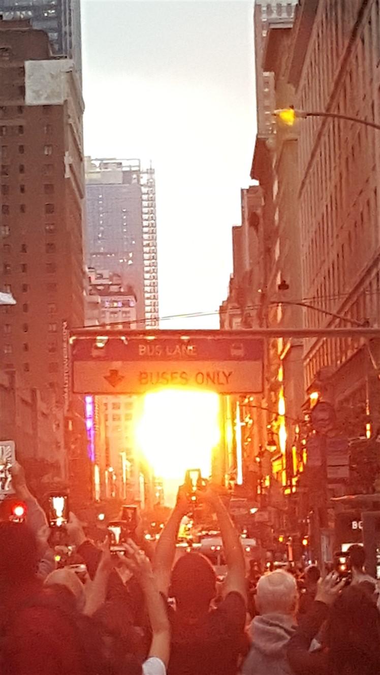 New York City – May 2018 –Manhattanhenge