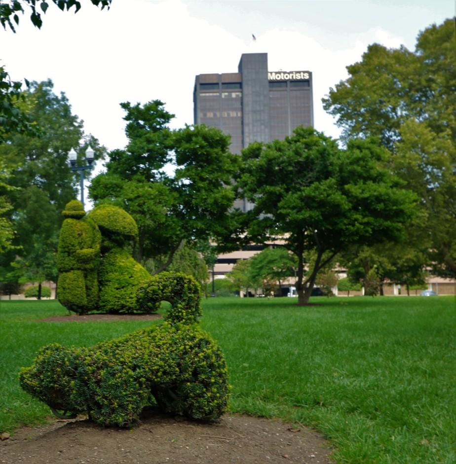 Columbus – August 2018 – Looking Over the TopiaryGarden