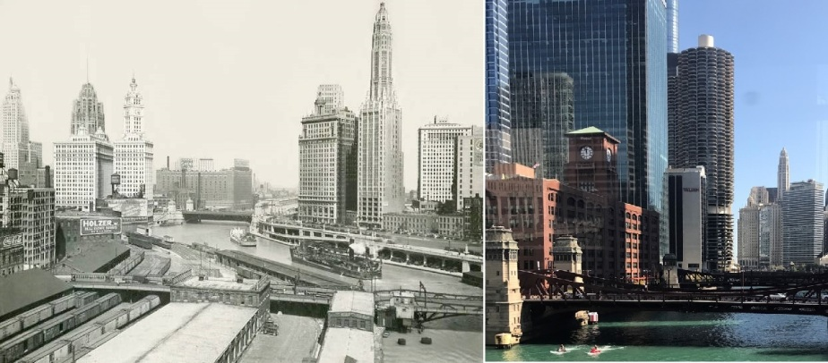 Chicago – February 2019 – Then and Now