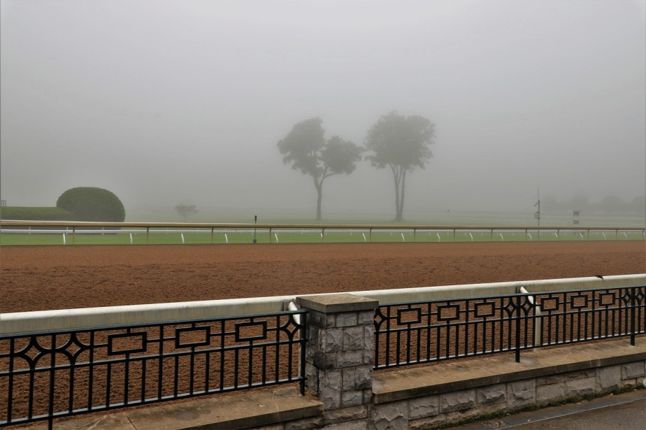 Lexington, Kentucky – May 2019 – A Damp Quiet Morning at Keeneland