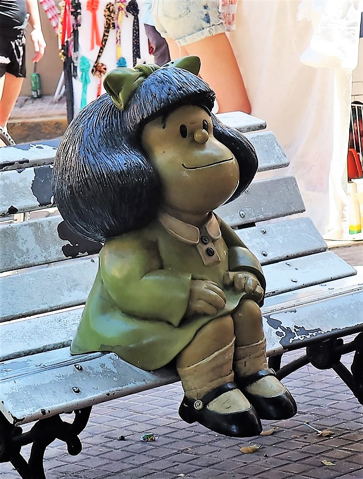 Buenos Aires – March 2020 – Argentina Cartoon CharacterStatues