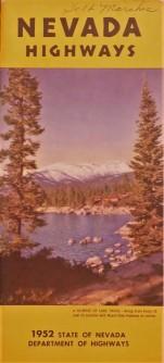 Government State Nevada 1952