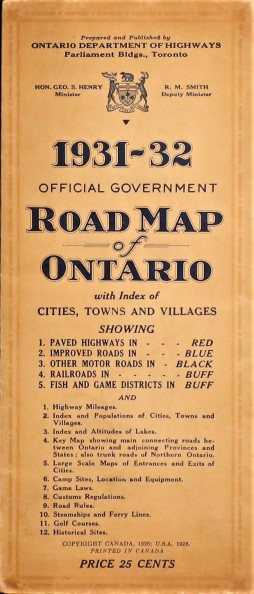 Government Province Ontario 1932